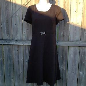 WHBM Classic Black Stretch Dress